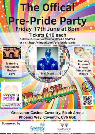 Coventry Pride Official Pre Party 2016