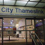 city thameslink national rail station central london